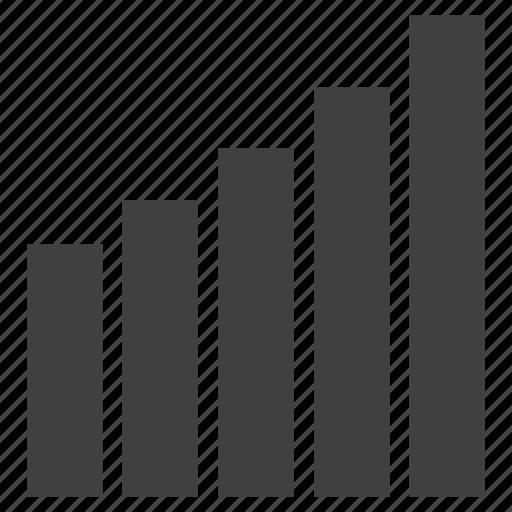 analytics, bar, bar chart, chart, graph icon