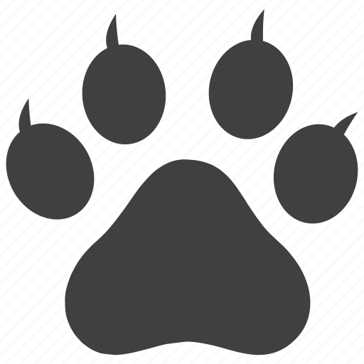 animal, foot print, impression, paw icon
