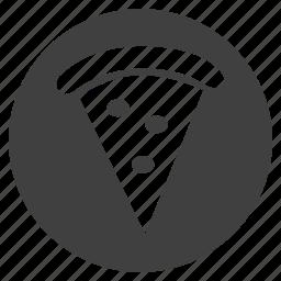 button, pizza icon