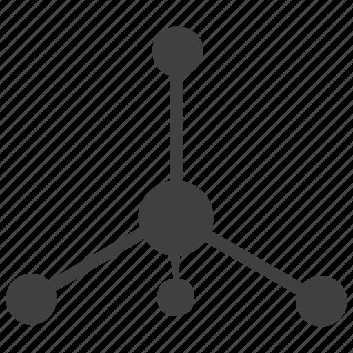 atom structure, chemistry, molecule structure, organic molecules icon