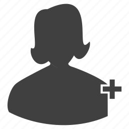 account, add, female, human, member, plus, profile, women icon