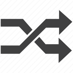 criss cross, random, sign icon