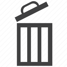 bin, container, open, recycle, trash icon
