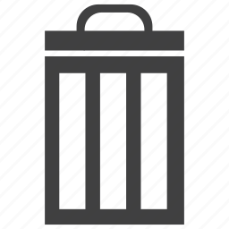 bin, closed, container, recycle, trash icon