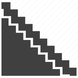 architecture, object, stair, staircase, stairs, step icon
