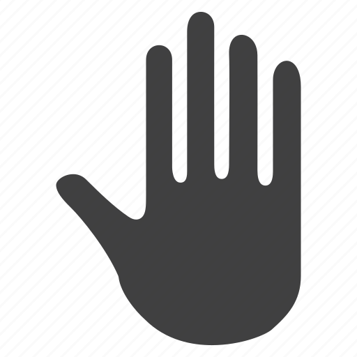 finger, hand, palm, peace, sign, stop, triba;, unity icon