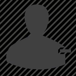 account, block, male, man, member, profile, remove, restrict, subtract icon
