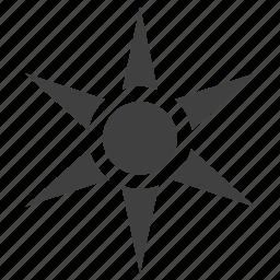 pattern, rays, summer, sun, sunlight, sunny, weather icon