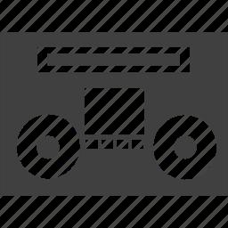 audio, casstte, media, portable, radio, recording, stereo, tape, vintage icon