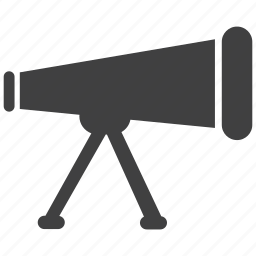 distance, far, object, stand, telescope, view icon