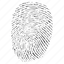 biometric, fingerprint, identification, impression, mark, press, print, security, thumbs icon