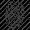 biometric, fingerprint, identification, impression, mark, press, print, security, thumbs icon