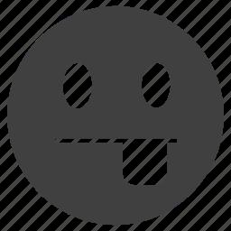 emoticon, face, happy, tongue icon