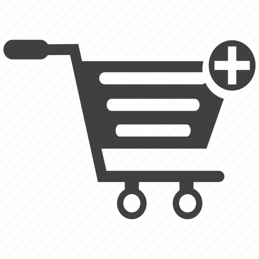 add to cart, basket, cart, movable, push, shopping, trolley, wheels icon