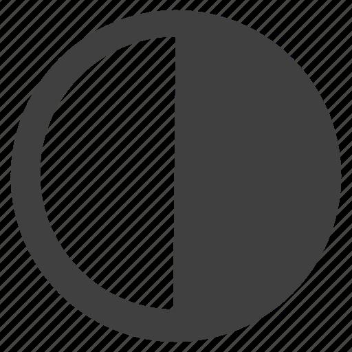 blackwhite, circle, circular, round icon