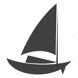 boat, sail, water icon