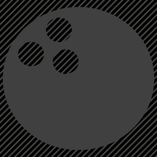 ball, bowling, holes, sport icon