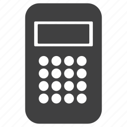 account, accounting, calculator, calucations, digital, keypad, technology icon