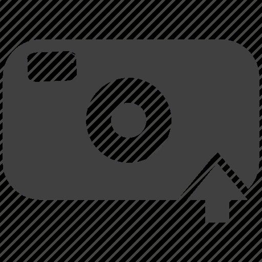 arrow, camera, click, snap, snapshot, technology, up arrow, upload icon