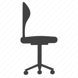 chair, furniture, modern, object, office, seat icon