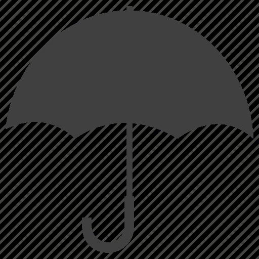 beach, cloud, forecast, rainy, umbrella, vacation, weather, web icon