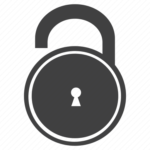 graphic, illustration, key, menu, open, padlock, unlock icon