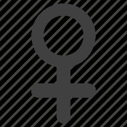 element, female, gender, human, sign, venus, women icon