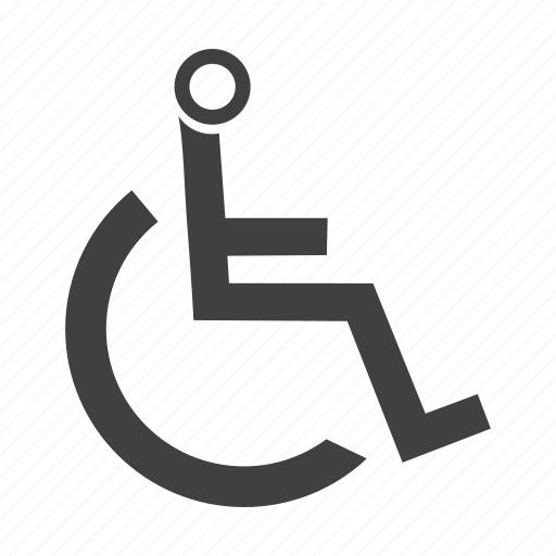 care, disability, handicapped, health, seated, sitting, transportation, wheelchair icon