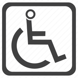 handicapped, merchandise, software, special, stract, template, wheelchair icon