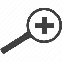enlarge, in, investigate, lens, magnifier, optical, research, tool, view, zoom icon