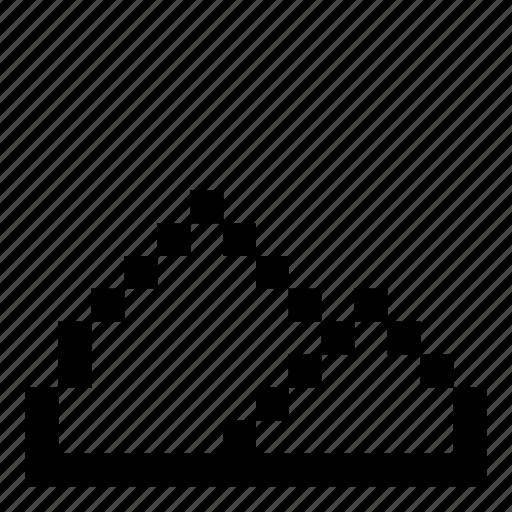 game, mountain, pixelated, pixels, tent icon
