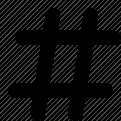 hash, hashtag, sharp, tag icon