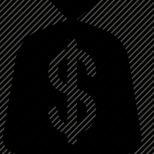 dollar, money bag, purse, sack icon
