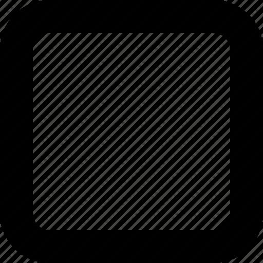 blank checkbox, polygon, rectangle, square icon