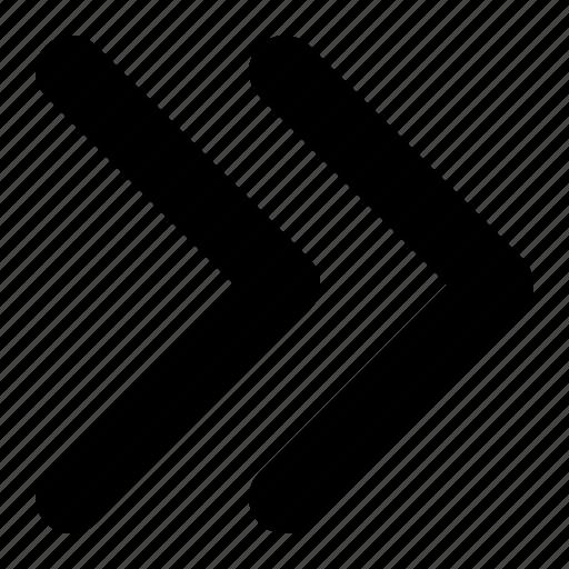 arrow, arrows, double, next icon