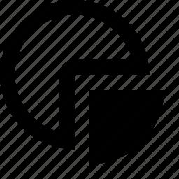 chart, pie, quarter, share, slice icon