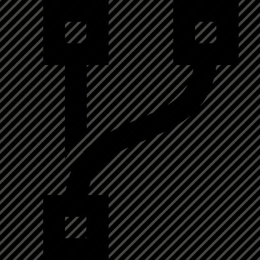 branch, branching, divide, hub icon