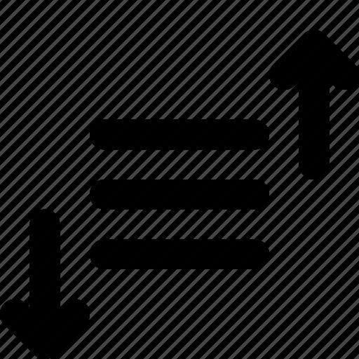 list, priority, sort, sorting icon