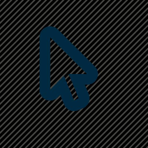cursor, mouse, white icon