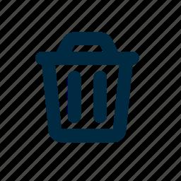 garbage, garbage can, trash icon