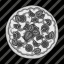 dish, dough, filling, food, ingredient, italian, pizza icon