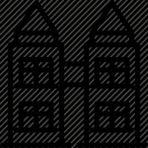 building, landmark, malaysia, petronas, skyline, tower icon