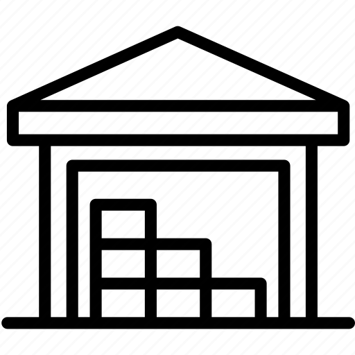 boxes, cargo, logistics, shipping, storage, store, warehouse icon