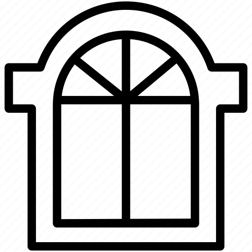 closed, home, hotel, house, room, window icon