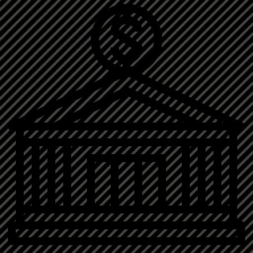 bank, building, business, finance, money, organization icon