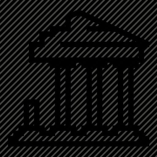 ancient, broken, greek, old, ruin, temple icon