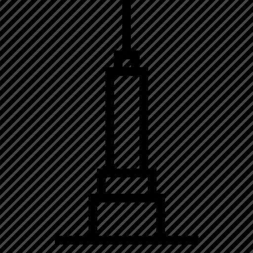 building, empire, new york, skyscraper, state, tower icon