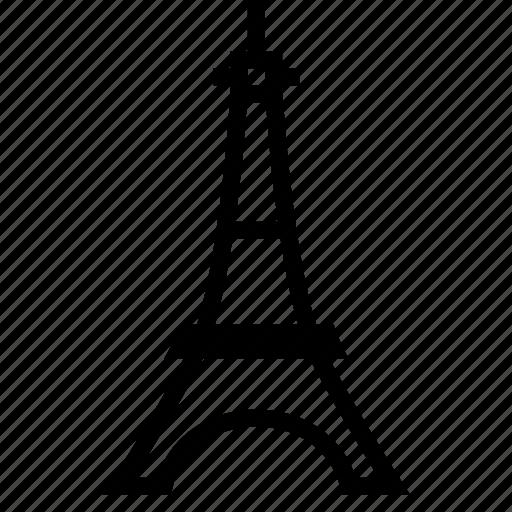 eiffel, france, landmark, paris, tower icon