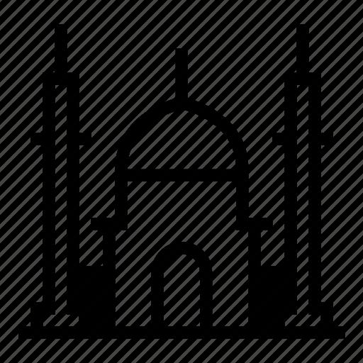 building, india, mahal, mosque, muslim, taj icon