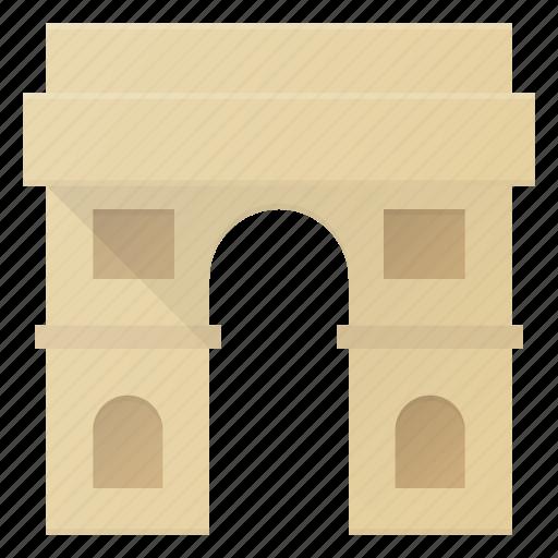 arc, architecture, building, landmark, place, rome, triomphe icon